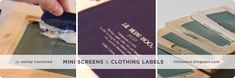 Mini Silk Screens to make Clothing Labels - Lil Blue Boo Tutorial @ Dharma Trading