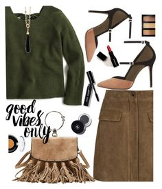 """""""It's Friday so good vibes only!"""" by juliehooper ❤ liked on Polyvore featuring Reiss, J.Crew, Bobbi Brown Cosmetics, tarte, Oscar de la Renta and Smashbox"""