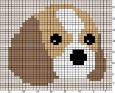 Pattern of cavalier. Need to convert to crochet. Cross Stitch Bookmarks, Cross Stitch Baby, Cross Stitch Animals, Cross Stitch Charts, Cross Stitch Designs, Cross Stitch Patterns, Baby Knitting Patterns, Knitting Charts, Cross Stitching