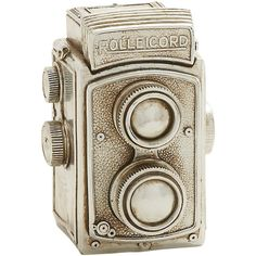 Dot & Bo Rolleicord Camera Décor ($20) ❤ liked on Polyvore featuring home, home decor and decor