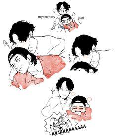 Bts fanart shared by ℳ𝓈.ℳ on We Heart It Jhope, Taehyung, Bts Bangtan Boy, Vhope Fanart, Fanart Bts, Namjin, Jikook, Wattpad, Korean Art