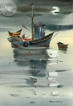 Morning Mood II – California Watercolor