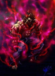 AKUMA by demitrybelmont on DeviantArt Tekken X Street Fighter, Street Fighter Ex, Street Fighter Video Game, Street Fighter Characters, World Of Warriors, Anime Ninja, Wolfenstein, Demon Art, Drawing Drawing
