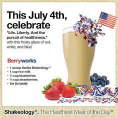 July4 vanilla shakeology recipe!