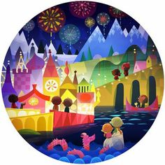 It's a Small World art by Joey Chou