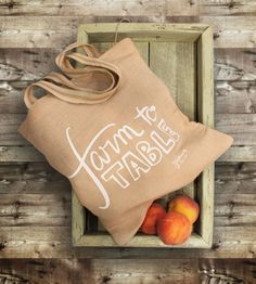 Farm To Table Jute Tote | The shortest path is usually the best, especially when it come... | Tote Handbags