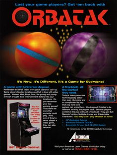 Orbatak Arcade Game Flyer - (1995) - #retrogaming #arcade #flyers