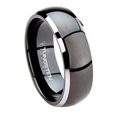 details about tungsten mens womens wedding band ring black silver modena comfort fit