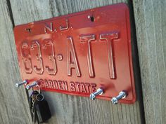Upcycled Recycled Repurposed License Plate by TheSalvagedPlanet
