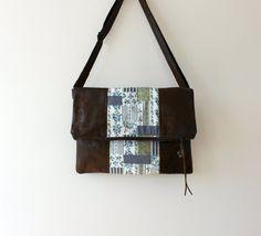 Vegan handbag  fold over crossbody bag FAUX by CheriDemeter, $41.00