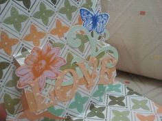 Alice in things: Postal Pop-up - Sizzix.    Lovely pop-up card created using Karen Burniston's Pop `n Cut system.