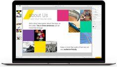 Create presentations, content library, presentation shapes, charts, presentation templates.