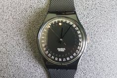 1991 Vintage Swatch Watch Gents GB-414 SPOT FLASH Free Battery New Strap, Black Swatch Model!   Tags : swatch watches women, vintage swatch watches, 80's swatch watches, swatch watches silver, swatch watches 2016, mens swatch watches, swatch watches irony, swatch watches chrono, swatch watches automatic, black swatch watches, swatch watches scuba, swatch watches classic, swatch watches for men, swatch watches retro, swatch watches orange,