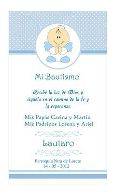inspirate con esta bonita invitación para la celebración de bautizo
