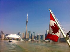 CN Tower Toronto Toronto, Flag Painting, City Pass, O Canada, Cn Tower, Travel Inspiration, Destinations, Artsy, Country