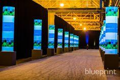 impactful lighting for walkway from marina side to atrium