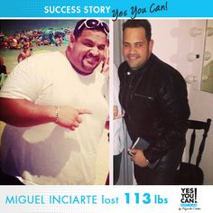 Miguel Inciarte - Another Yes You Can! Diet Plan Success Story