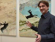Lauréat du concours Jeunes artistes visuels du Musée en 2014, Benoît Ricard propose sept grands tableaux en diptyque. au MACL du 1er février au 22 mars 2015.