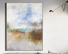 Very Large Abstract Paintings On Canvas,Yellow Abstract Canvas Art Oil Painting,Blue Abstract Art Painting,Modern Living Room Abstract Art Blue Abstract Painting, Abstract Canvas Art, Oil Painting On Canvas, Abstract Paintings, Yellow Canvas Art, Art Oil, Etsy, Wall Art, Room