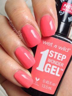 wet n wild 1 Step Wonder Gel Polish in Coral Support