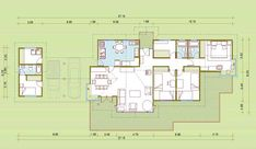 Plano gratis de cabaña de 135mt2 100 M2, Ideas Para, Floor Plans, Cottage, Flooring, Farmhouse, How To Plan, Architecture, Projects