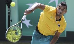 Nick Kyrgios in Australian team which has secured a place in the 2017 Davis Cup World Group with an emphatic playoff win over Slovakia in Sydney