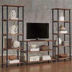 TRIBECCA HOME Myra Vintage Industrial Modern Rustic 3-piece TV Stand Set | Overstock.com Shopping - The Best Deals on Media/Bookshelves