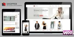 Shopper Multi-Purpose Woocommerce WordPress Theme . Shopper has features such as High Resolution: Yes, Widget Ready: Yes, Compatible Browsers: IE9, IE10, IE11, Firefox, Safari, Chrome, Compatible With: WPML, WooCommerce 2.6.x, WooCommerce 2.5, WooCommerce 2.4.x, WooCommerce 2.3.x, Software Version: WordPress 4.6.1, WordPress 4.6, WordPress 4.5.x, WordPress 4.5.2, WordPress 4.5.1, WordPress 4.5, WordPress 4.4.2, Columns: 4+