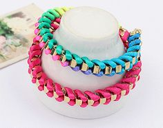 Weaved Colors Fashion Bracelets (Set of 2) from LilyFair Jewelry, $10.99!