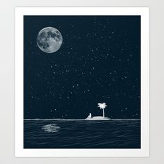 I Think Better When I'm Alone Art Print by Zach Terrell - $17.00
