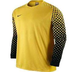 Nike-Mens-Park-III-Long-Sleeve-Goalkeeper-Jersey Small Yellow Dotted Sleeve #Nike