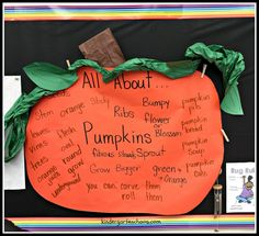 KWL All About Pumpkins Interactive Anchor Chart - kindergartenchaos.com