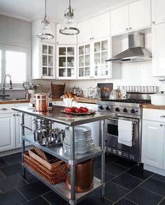 I think I'll just let this kitchen by @susanburnsdesign speak for itself! #interiordesign #kitchen #kitchendesign #cook #countryliving #paris #copperpots #interiordesigner #kitchenisland #stainlesssteel #whatsfordinner #cookskitchen
