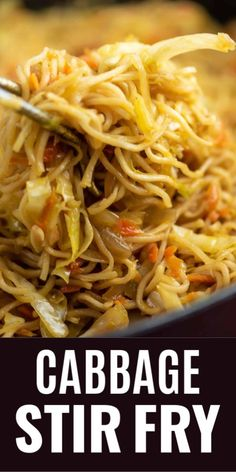 Easy and amazing cabbage stir fry recipe with carrots and fresh ginger. definitely top with sweet chili sauce like she says Ramen Noodle Cabbage Stir Fry Recipe - Build Your Bite Build Yo Vegetable Dishes, Vegetable Recipes, Vegetarian Recipes, Healthy Recipes, Easy Asian Recipes, Korean Recipes, Chicken Recipes, Cabbage Stir Fry, Chicken And Cabbage