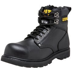 Shop a great selection of Caterpillar Men's Second Shift Steel Toe Work Boot. Find new offer and Similar products for Caterpillar Men's Second Shift Steel Toe Work Boot. Black Work Boots, Good Work Boots, Cool Boots, Best Steel Toe Boots, Steel Toe Work Boots, Comfortable Steel Toe Boots, Safety Shoes For Men, Safety Footwear, Women's Shoes