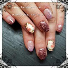 Vintage  #nails #vintage #rose