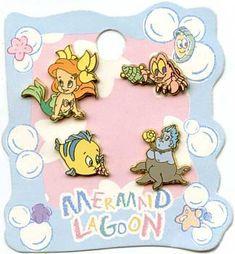 Japan Disney Baby Ariel Sebastian Flounder Ursala Tokyo Sea Mini 4 Pin Set | eBay $100