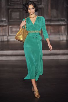 """how many fashion mags do you think will have """"Downtown Abby"""" inspired spreads this season? definitely a trend. Love the modern twist with bright colors, L'Wren Scott Fall 2012"""