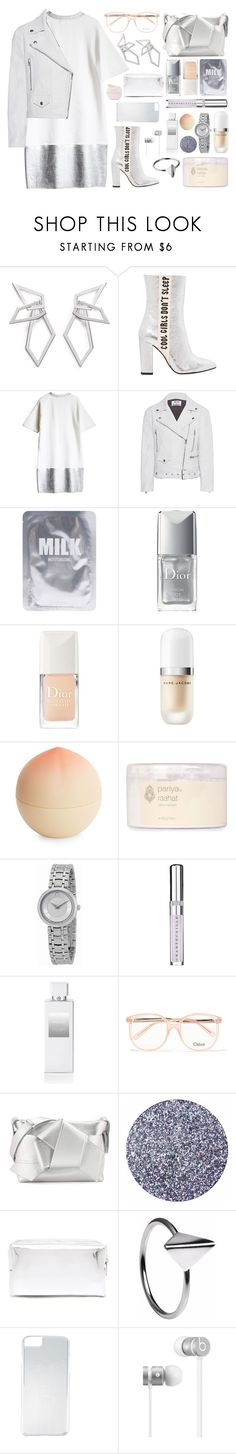 """""""cool girls don't sleep"""" by moneanemone ❤ liked on Polyvore featuring W. Britt, Havva, Acne Studios, Lapcos, Christian Dior, Marc Jacobs, Tony Moly, PARIYA, Movado and Chantecaille"""