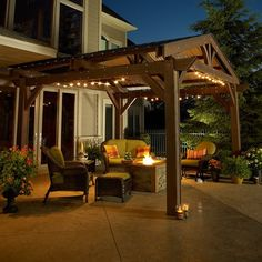 Outdoor GreatRoom LODGE-II Lodge II Douglas Fir Pergola in Mocha
