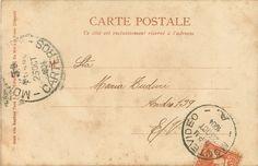 French postcard with 2 cancel marks and stamp Vintage Ephemera, Vintage Postcards, Vintage Images, French Postcards, Nostalgia, Photo Texture, Printable Art, Free Printables, Free Prints