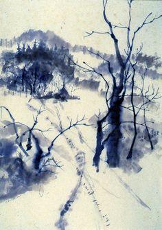 Snow Tracks by Peg Kolmar