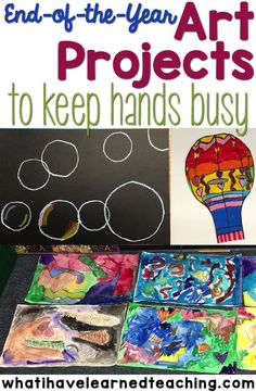 End of the Year Art Projects that keep students' hands busy during the last few weeks of school. Find some fun art projects we do in our classroom. Craftivities | End of Year Activities | Elementary Education Art Projects | Second Grade Art Projects |Th