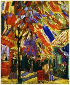 "Vincent Van Gogh  ""The Fourteenth of July Celebration in Paris"" 1886"