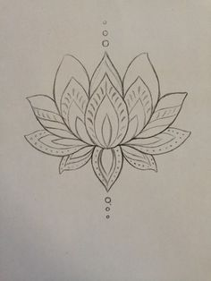 Lotus tattoo design.