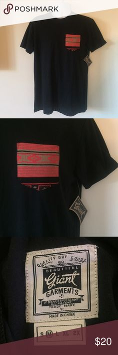 Trendy Black Aztec Pocket Tee 60% cotton/ 40% polyester black Aztec pocket tee by Street Wear designer Beautiful Giant! Brand new, with tags. NOT PacSun, tagged for visibility! Super comfortable and ready to hit the skate park or beach! ✌️️✨ Free Gift with any bundle! PacSun Shirts Tees - Short Sleeve
