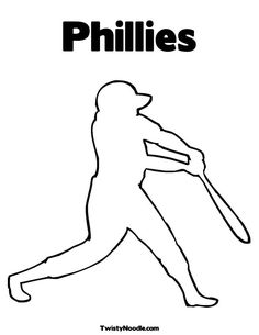 Phillies Baseball Coloring Pages Printable