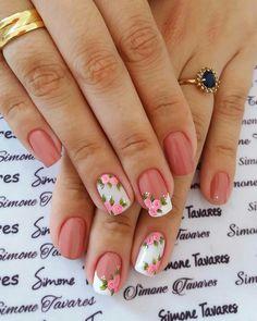 Edgy Nail Art, Edgy Nails, Pink Nail Art, Fancy Nails, Love Nails, Pink Nails, Pretty Nails, Simple Nail Art Designs, Nail Polish Designs