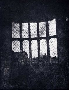 (1835, Aug.) Window in the South Gallery of Lacock Abbey made from the oldest photographic negative in existence.