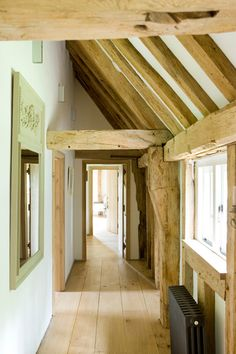 Frame house beamwork detail via David Giles Photography | Photographer | Interiors